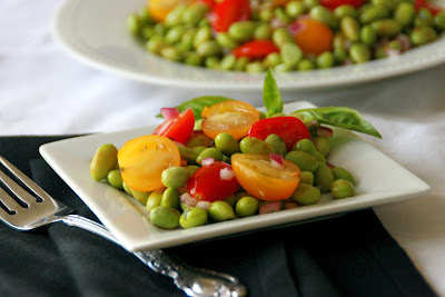 ... , Living with Elmo: Edamame-Tomato Salad with Lime-Balsamic Dressing