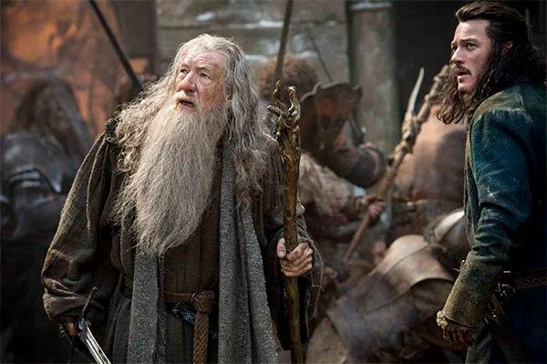 """Gandalf y Bardo en """"El Hobbit: La Batalla de los Cinco Ejercitos"""""""