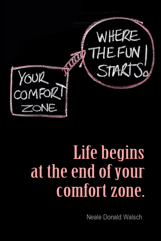 visual quote - image quotation for CHANGE - Life begins at the end of your comfort zone. - Neale Donald Walsch