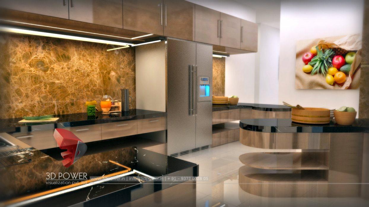 Architectural Kitchen Design | 3D Kitchen Rendering | Kitchen 3D  Visualizations