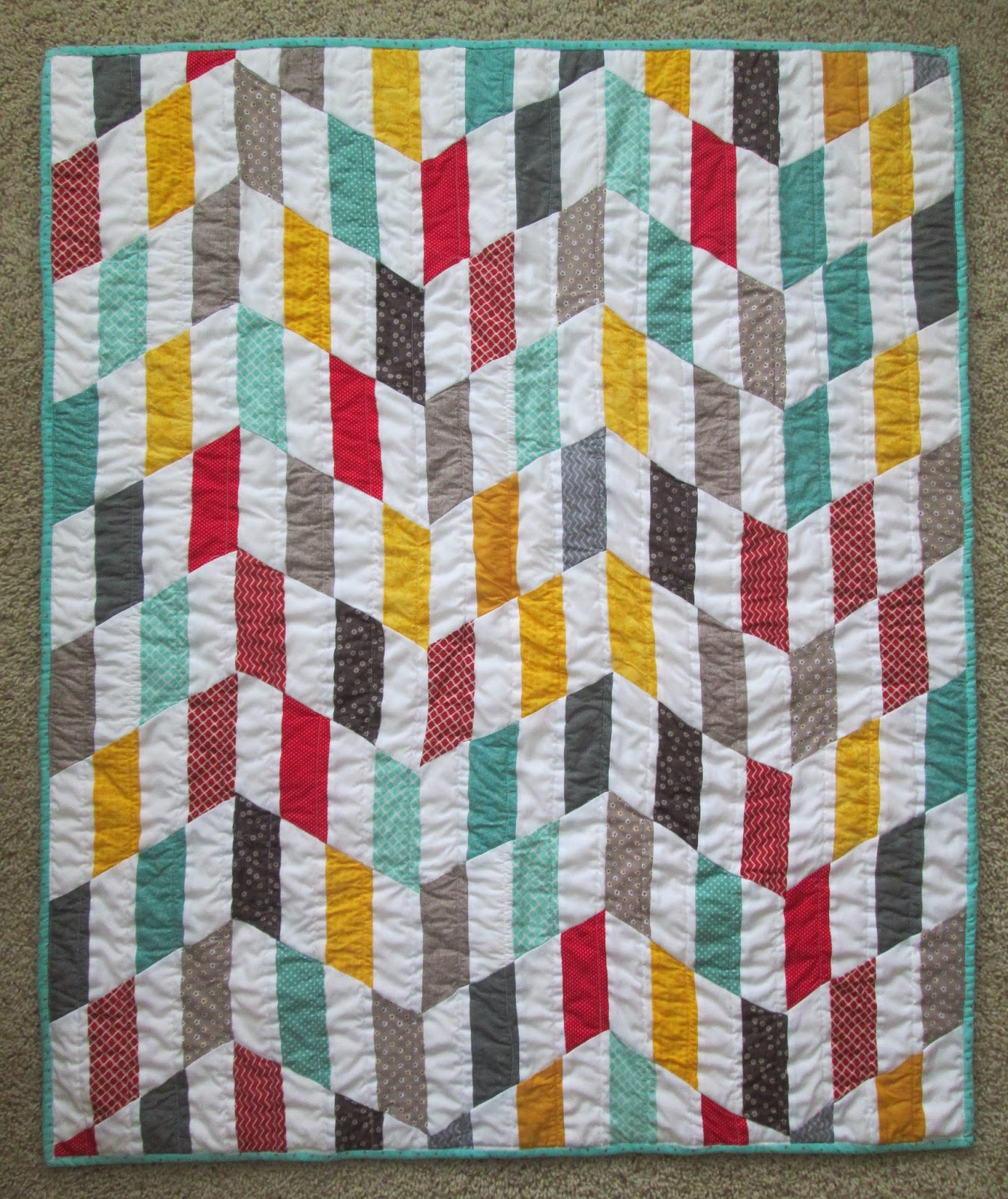 Quackadoodle Quilt: Striped Chevron Quilt