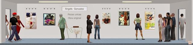"""<img src=""""http://2.bp.blogspot.com/-4IIk7-ZE7gs/UsWNgRwi3fI/AAAAAAAAS0g/93TWiiH304A/s1600/sala-virtual-de-exposiciones-de-angels-gonzalez.jpg"""" alt="""" Sala de exposición virtual de pinturas de Ángels González """"/>"""