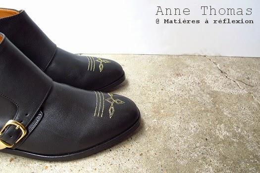 Anne Thomas low boots brodées phoenix