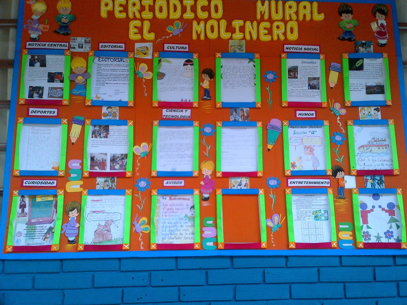 Coordinacion recursos para el aprendizaje escuela el for Editorial de un periodico mural