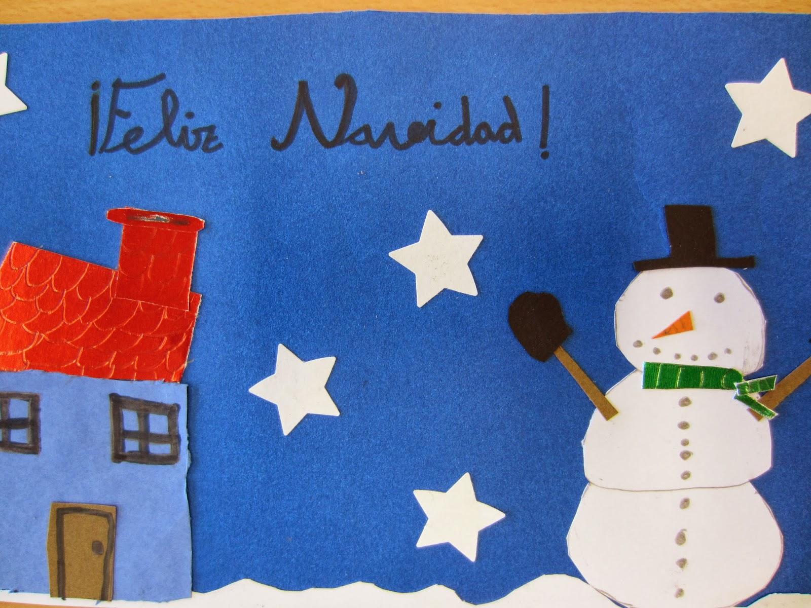 Blog de 4 a postales de navidad for Tarjetas de navidad hechas por ninos