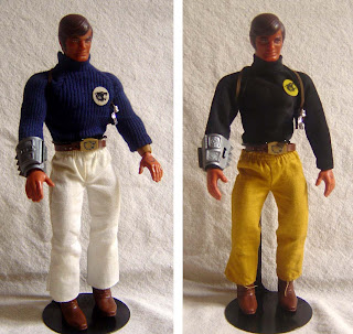"Mattel's Big Jim PACK ""Commander"" Jim figure - white & gold versions"