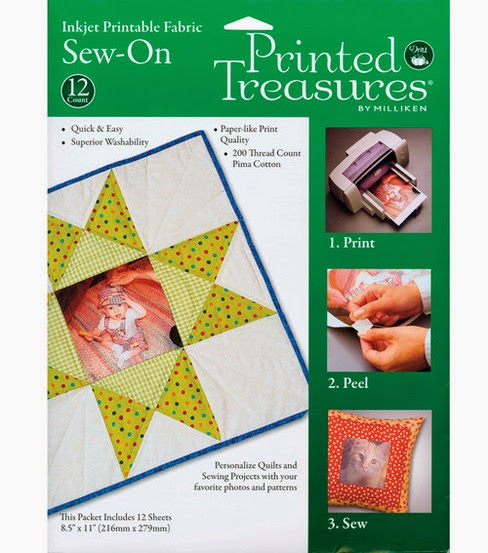 Dritz inkjet printable fabric - package 12 sheets