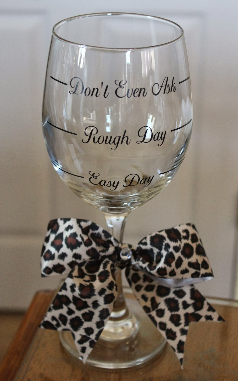 Cher 39 S Signs By Design Wine Glasses Easy Day Rough Day