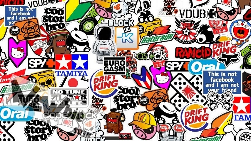 sticker bomb wallpaper cartoon - photo #14