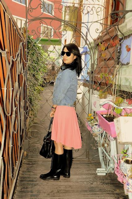 rochie roz asos