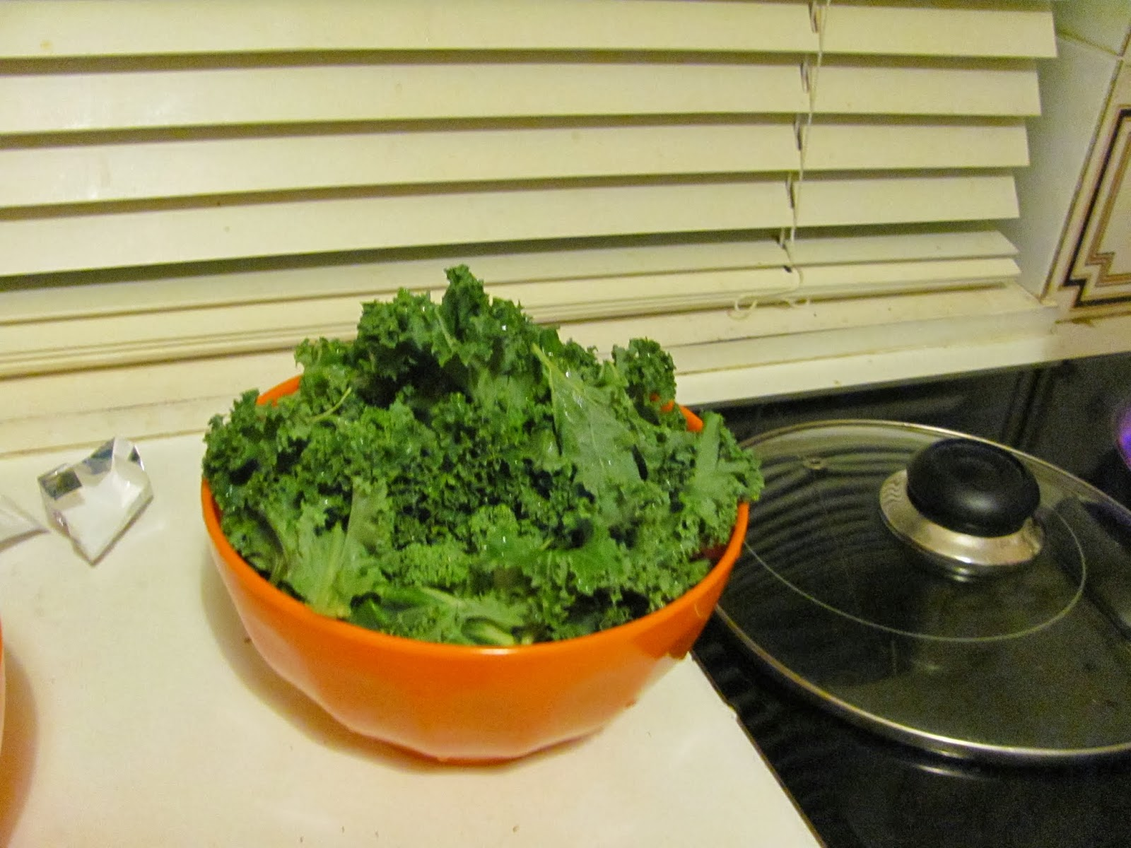Cut Kale for soup