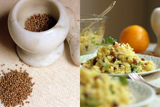 Orange, Raisin and Almond Couscous #SundaySupper | Vintage Kitchen Notes