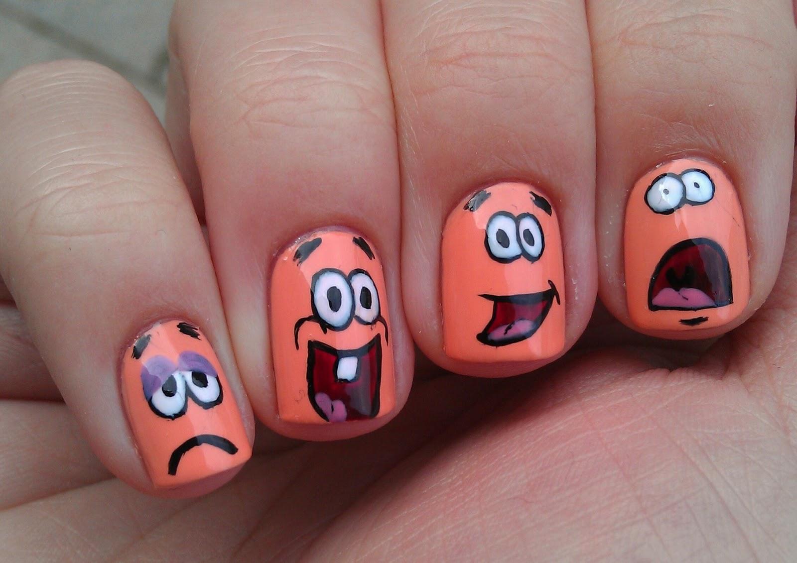 Прикольные картинки на ногтях