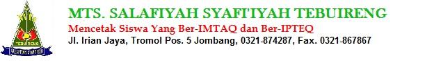 MTS. SALAFIYAH SYAFI'IYAH TEBUIRENG