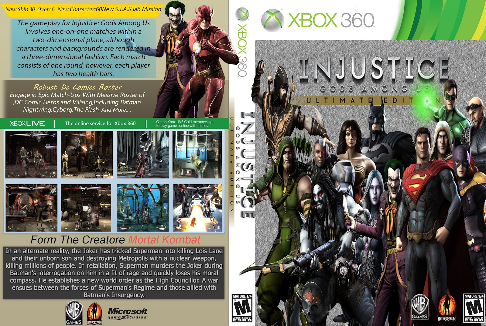 Capa Injustice Gods Among Us Ultimate Edition Xbox 360