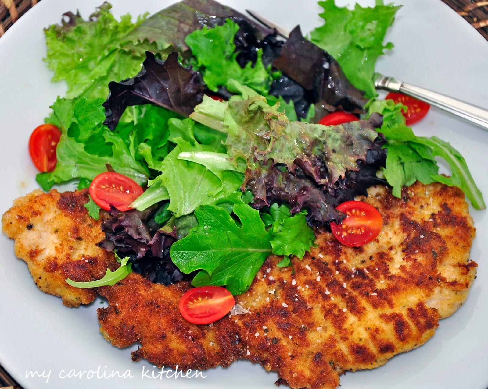 Barefoot Contessa Salad Recipes my carolina kitchen: barefoot contessa's parmesan chicken topped
