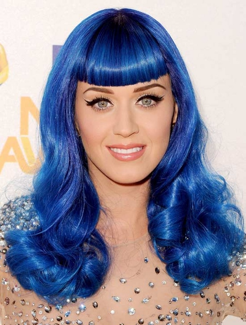 katy perry smurf blue hair large msg