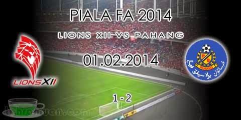 Piala FA 2014 : Pahang Ke Suku Akhir