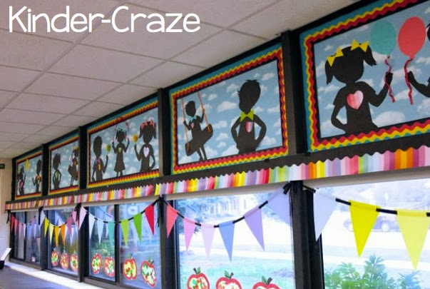child-friendly decorations in kindergarten classroom