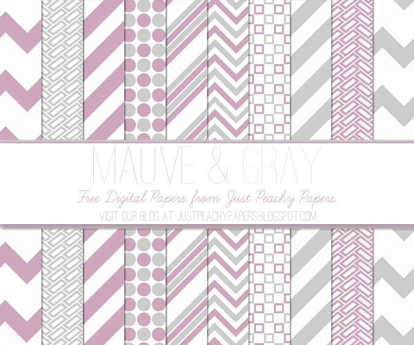 Free Digital Paper: Mauve and Gray