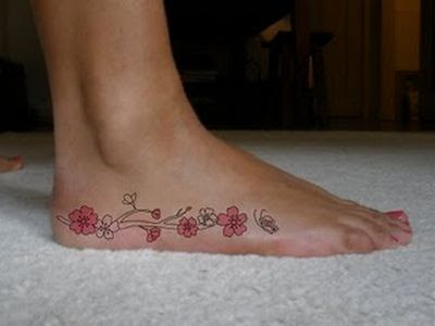 ankle and foot tattoo