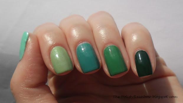 polish rainbow ombre nails