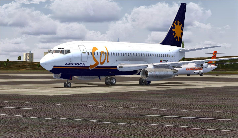 Sol De América YV-397T Textura Para Milviz 737-200