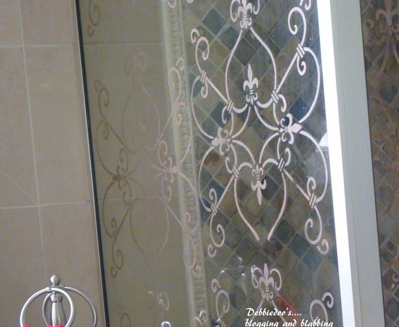 Stencil On A Shower Door Diy