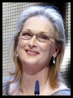 Meryl Streep small glasses big face