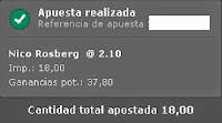 Apuestas Deportivas Rosberg Formula 1-GP España Bet365