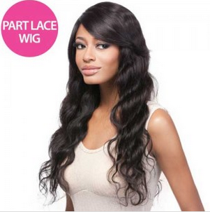 Its a Wig Salon Remi 100% Brazilian Human Hair Lace Front Wig HH Part Lace Body Wave 24""