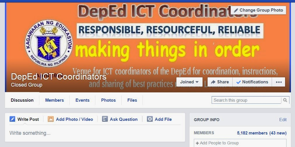 DepEd ICT Coordinator Banner Page