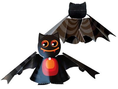 Papercraft imprimible y armable de un murciélago / bat. Manualidades a Raudales.