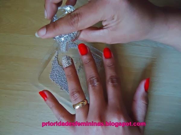 bolinhas caviar, unhas, nail art