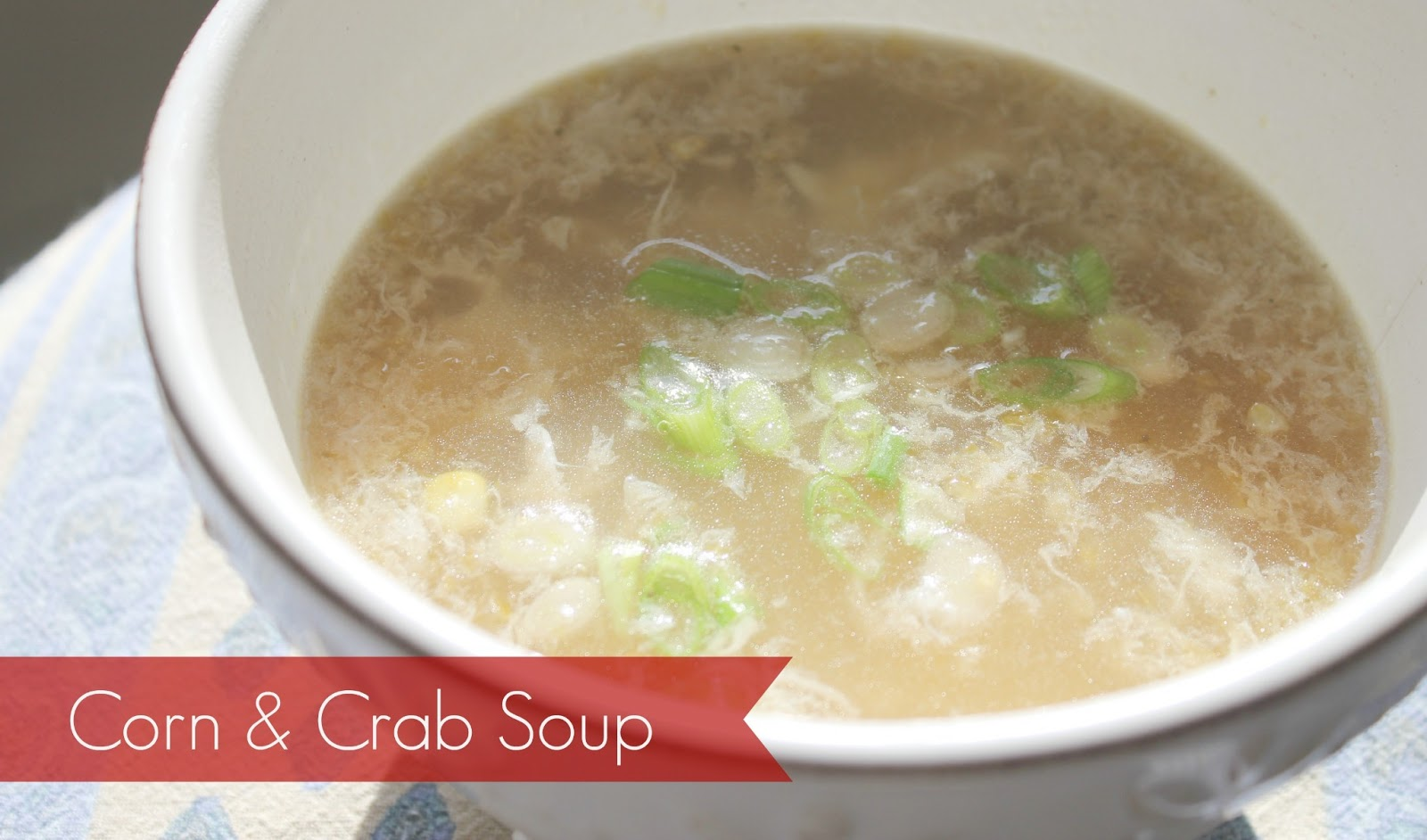 Marie's Pastiche: Recipe - Corn & Crab Soup