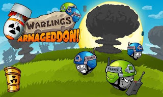 Screenshots of the Warlings: Armageddon for Android tablet, phone.