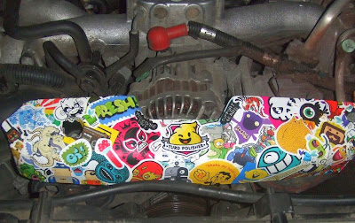 Car Sticker Bombing