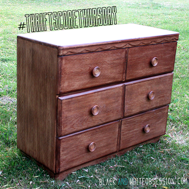 #thriftscorethursday Week 7 Drabby Experimental Dresser | www.blackandwhiteobsession.com
