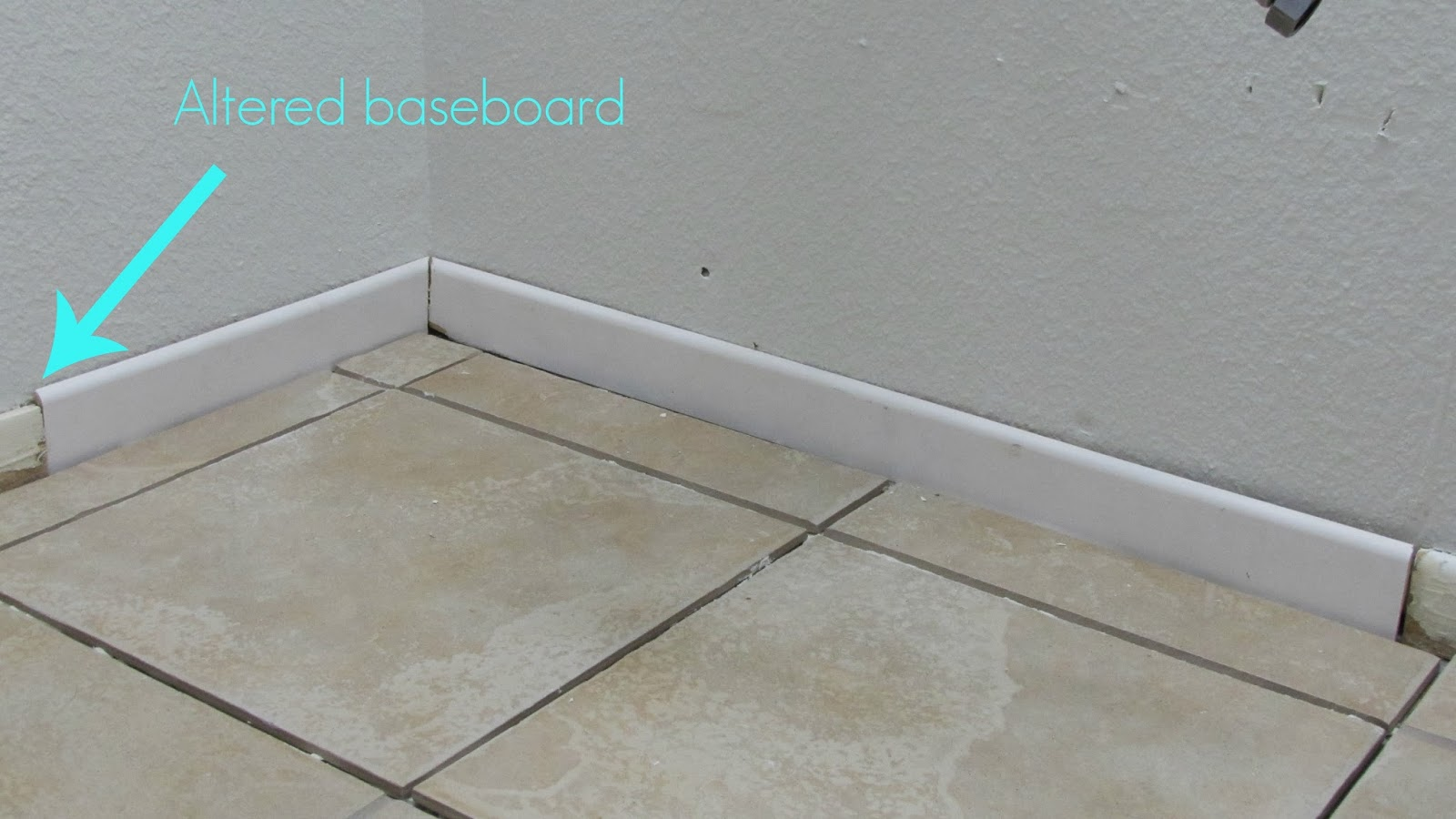 adventures in diy hall bathroom reno baseboards