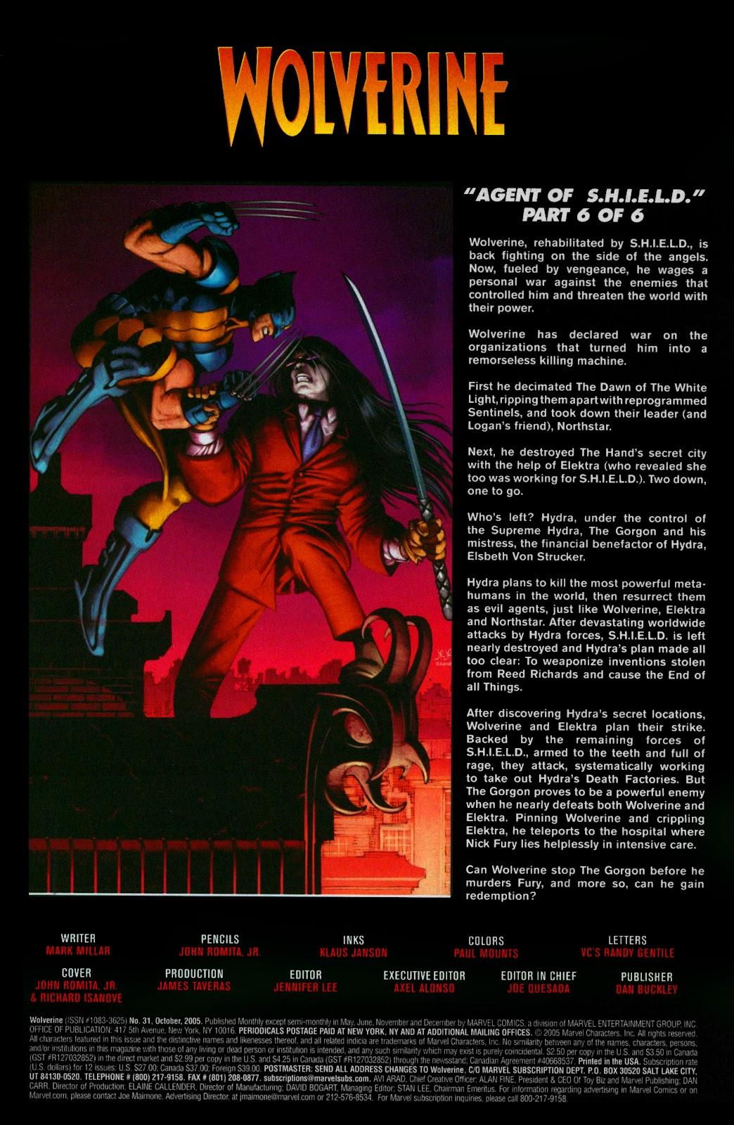 Read online Wolverine (2003) comic -  Issue #31 - 2