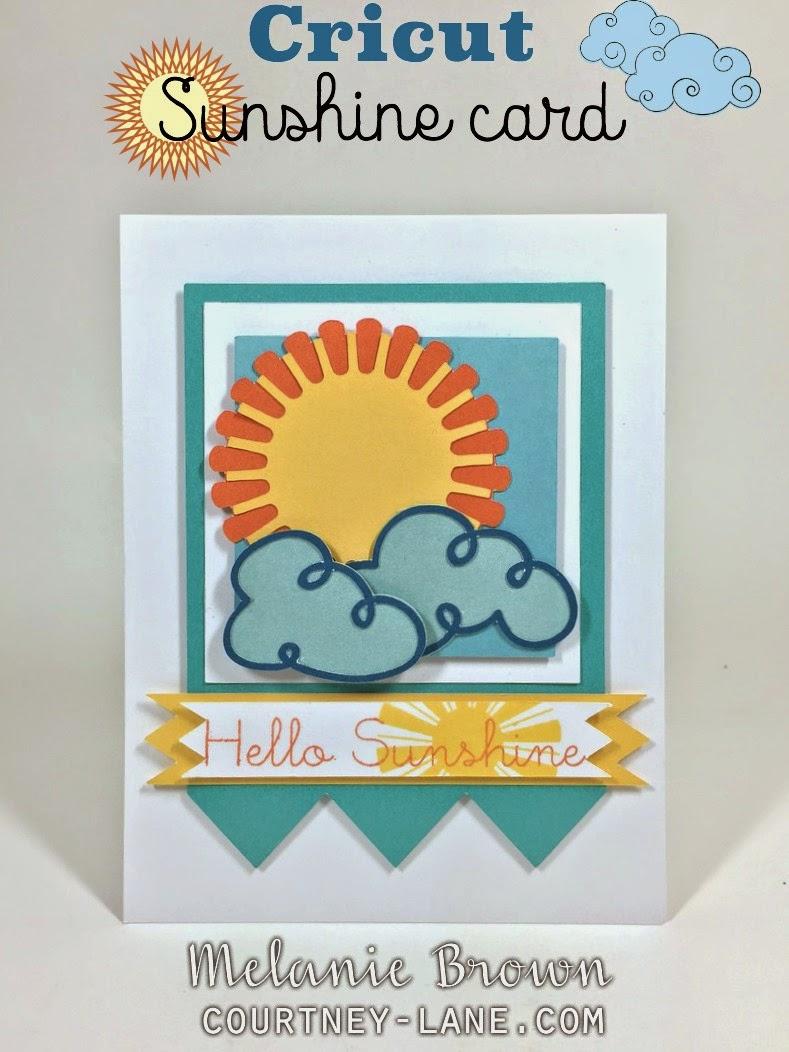 Cricut Sunshine card