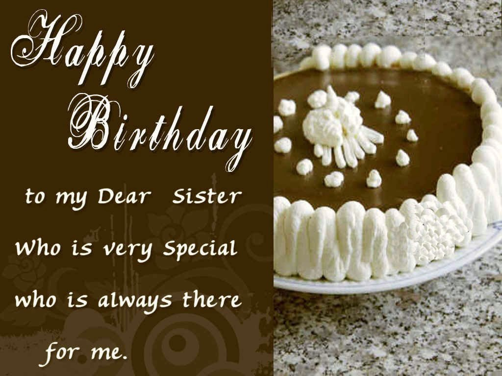 Happy Birthday Sister Wish Wallpaper Cake Cards Etc