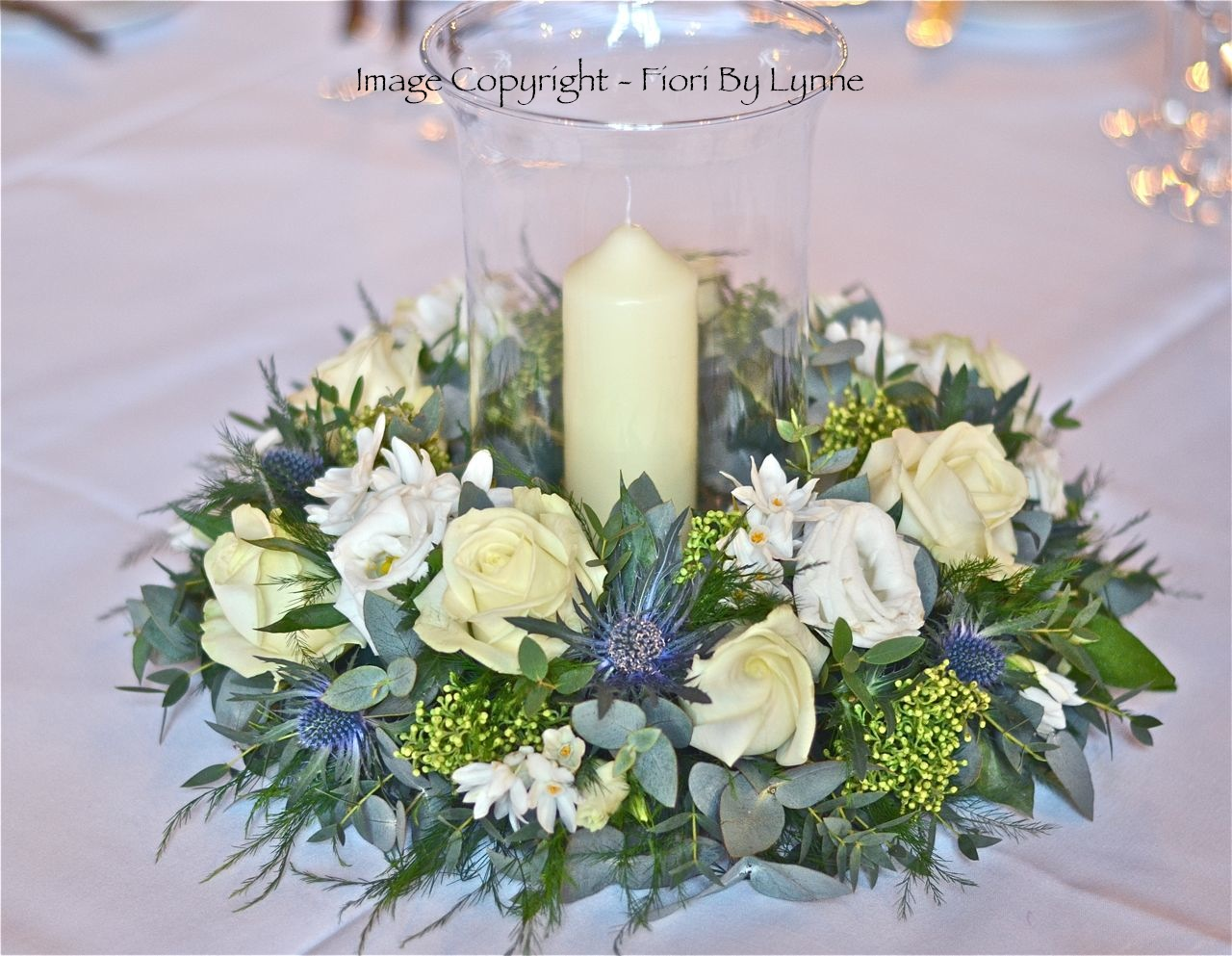 Helens Wedding Flowers Roses And Thistles Rhinefield House
