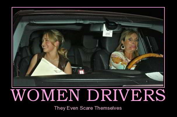 Meme Women drivers they even scare themselves
