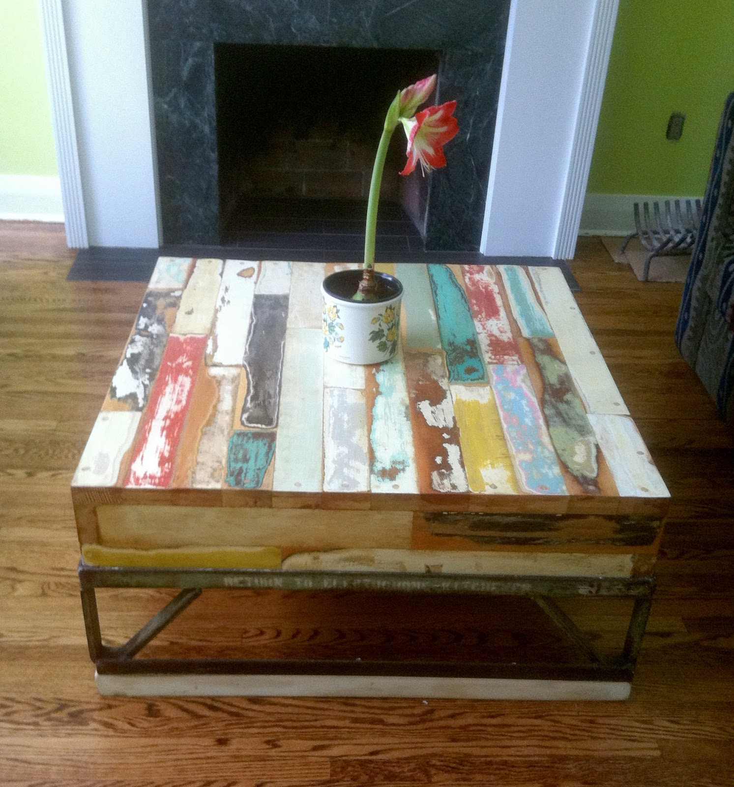 Forever interiors coffee tables 3 made entirely of reclaimed doors and reclaimed bc fir skid table geotapseo Gallery
