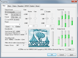 AC3 Filter: High Quality Free Audio Decoder and Processor Filter