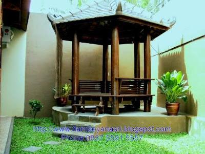 Tukang Taman Surabaya konsep klasik gazebo