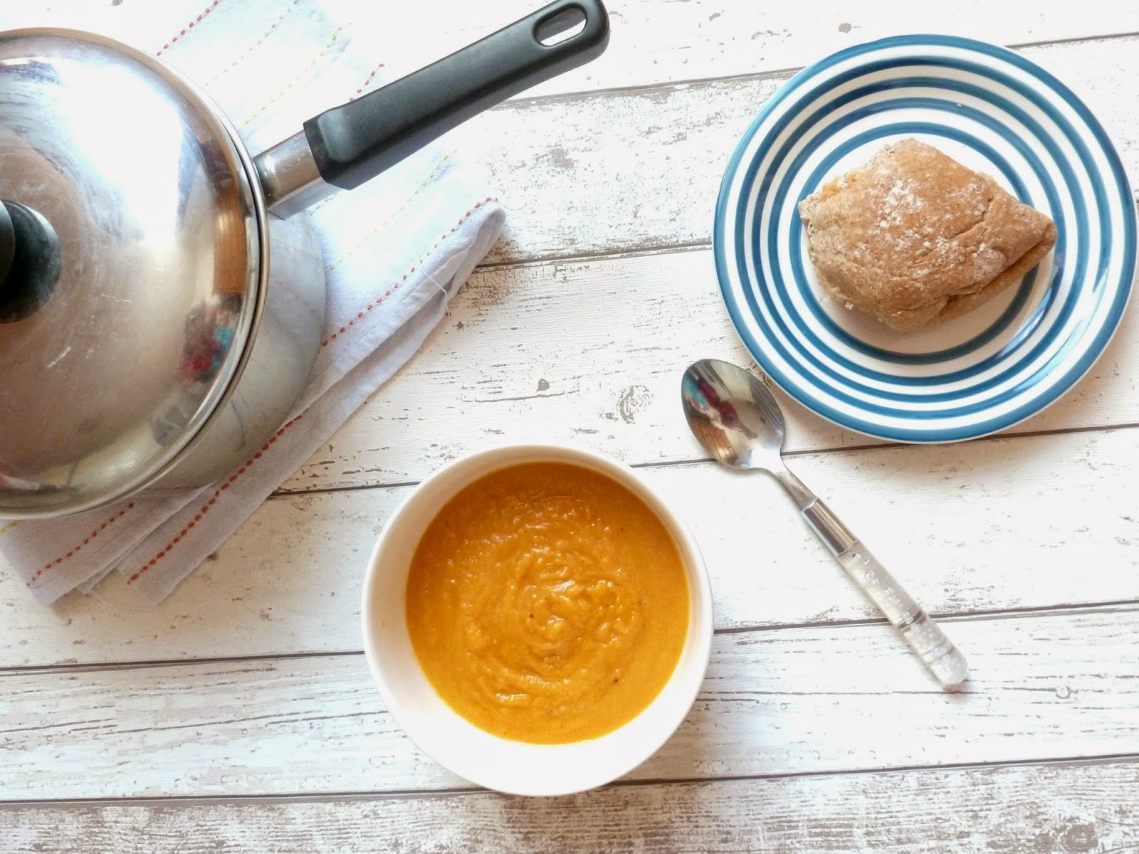 Carrot, Sweet Potato & Lentil Soup Recipe