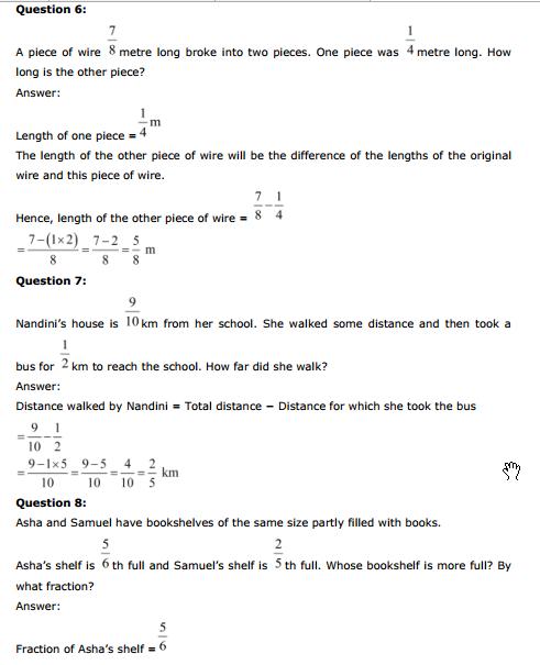 Fractions Worksheets For Class 5 Cbse - Proga | Info