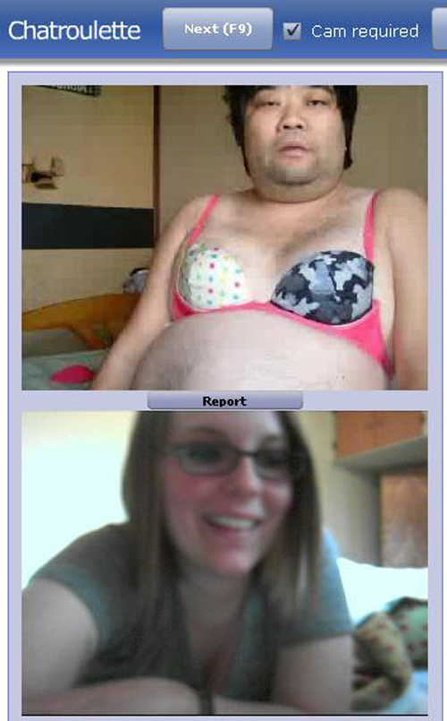 Fun chatroulette's moment took in a pic from different users